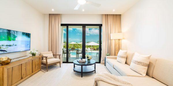 Living Area Beachfront Condo Turks and Caicos